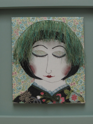 Green Day - textiles and mixed media