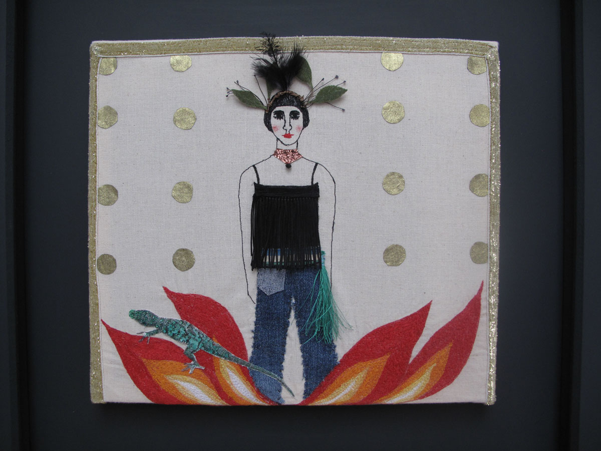 Rise Up - textiles and mixed media
