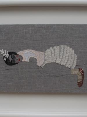 Sleep - textiles and mixed media
