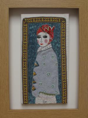 Winters Coat - textiles and mixed media